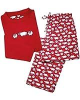Women's Pajama Set - Adorable Sheep For Sleep Print