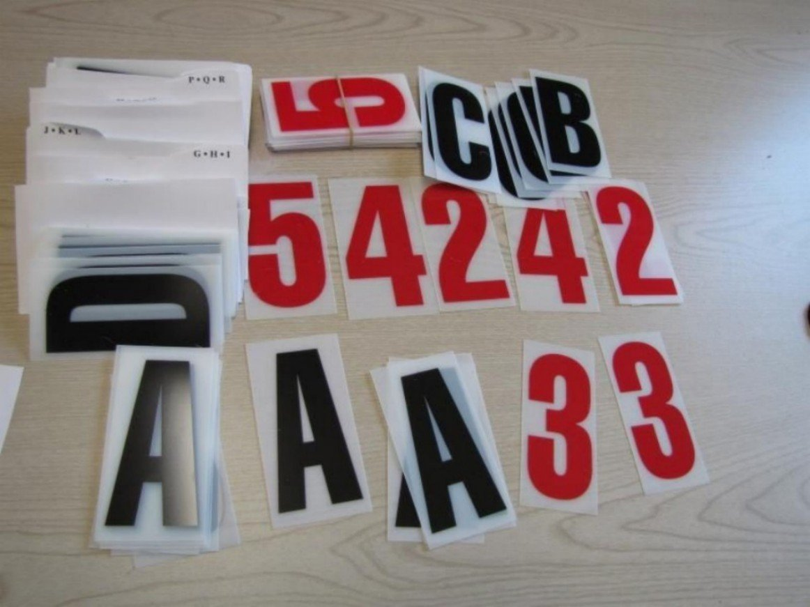 NEOPlex 4'' Letter Kit - Black Letters w/Red Numbers