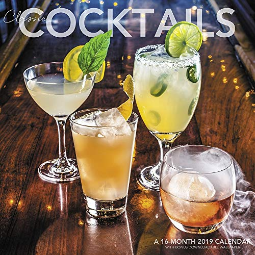 2019 Cocktails Classic 2019 Wall Calendar, Wine, Beer & Spirits by ACCO Brands
