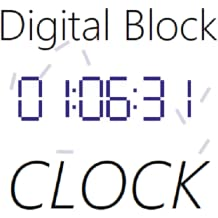 Digital Block Clock