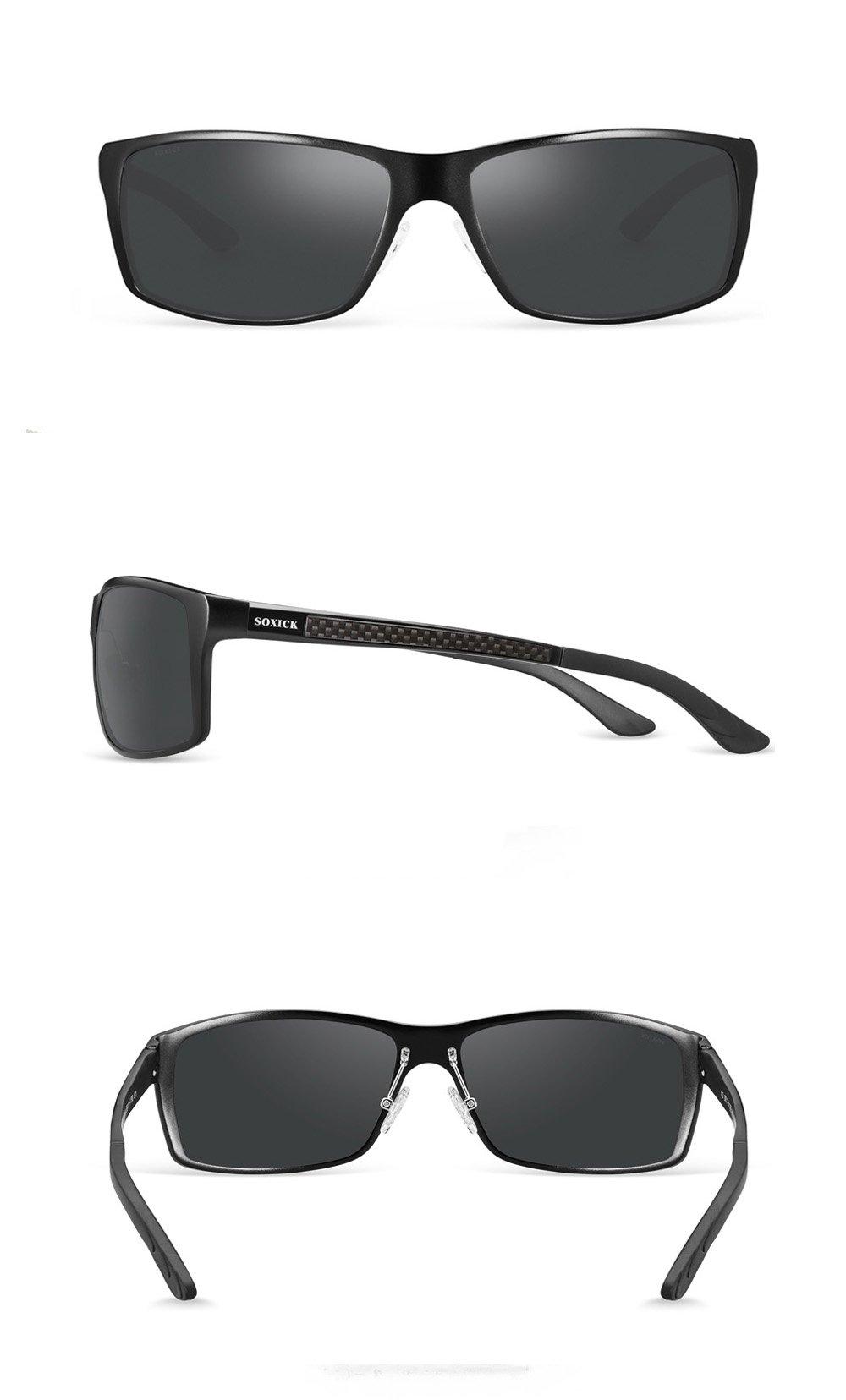 21a0f85a7ab Soxick UV400 Polarized Sunglasses for Men Wayfarer Men s Driving Sunglasses  - 999   Sunglasses   Clothing