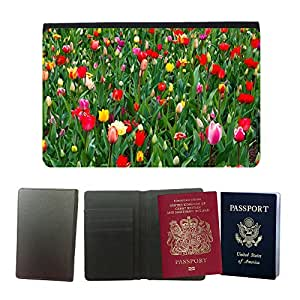 Passeport Voyage Couverture Protector // M00157006 Hermoso fondo floración // Universal passport leather cover