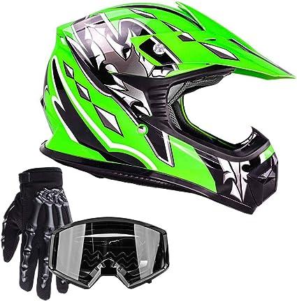 ATV Motocross Dirt Bike Motorcycle Power sports Street Bike Gloves Green 011