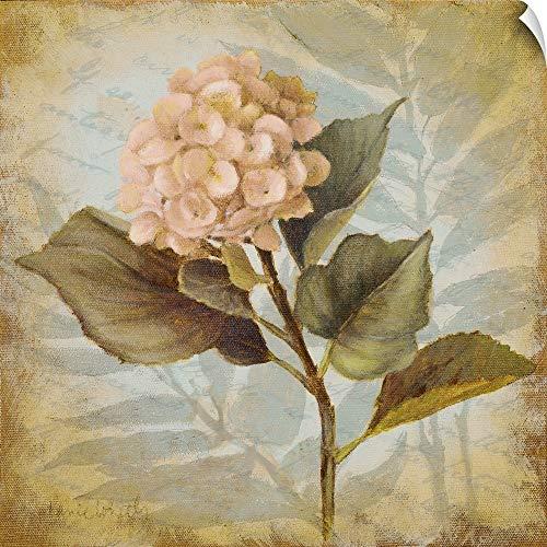CANVAS ON DEMAND Pink Hydrangea Portrait Wall Peel Art Print, 10