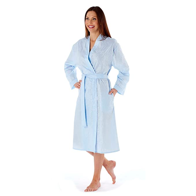 104b672d6786 Selena Secrets Womens Ladies Robe Seersucker Kimono Wrap Dressing Gown   Amazon.co.uk  Clothing