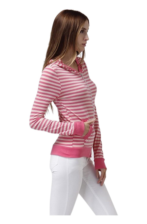 2LUV Women s Long Sleeve Zip-Up Hooded Sweatshirt 80cccbf5d