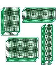 Eiechip® 12pcs/lot 5x7 4x6 3x7 2x8cm Double Side Prototype DIY Universal Printed Circuit Electronics PCB Board Protoboard for arduino