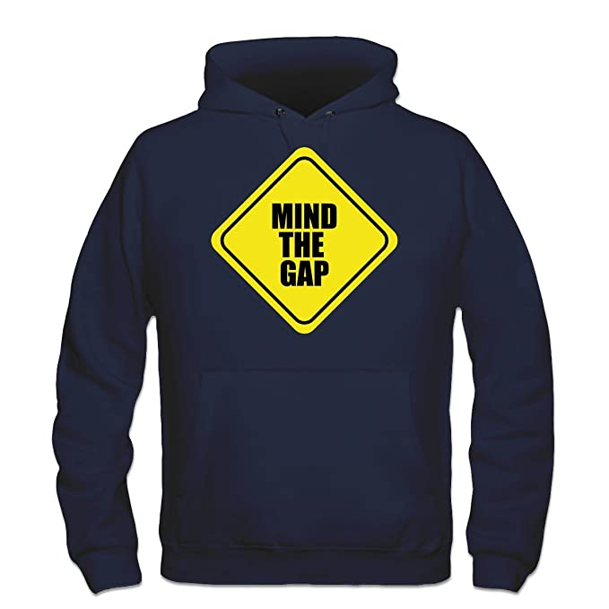 Sudadera con capucha Mind The Gap Warning by Shirtcity: Amazon.es: Ropa y accesorios