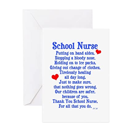 Amazon Cafepress School Nurse Greeting Card Note Card
