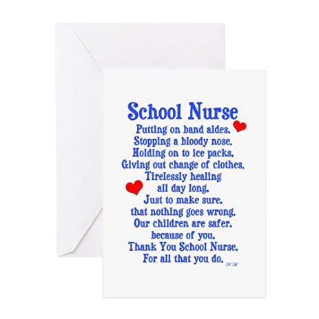 Amazon cafepress school nurse greeting card note card cafepress school nurse greeting card note card birthday card blank inside bookmarktalkfo Images