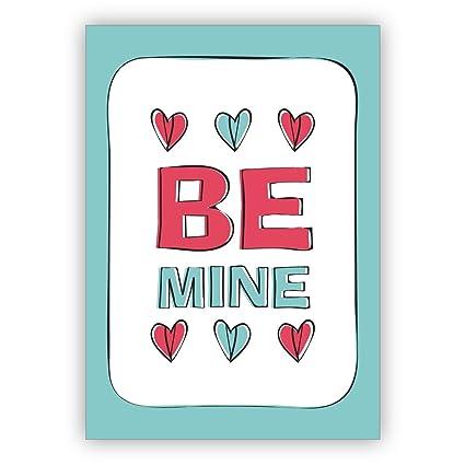 1 Hermosa tarjeta de amor retro, tarjeta de San Valentín con ...