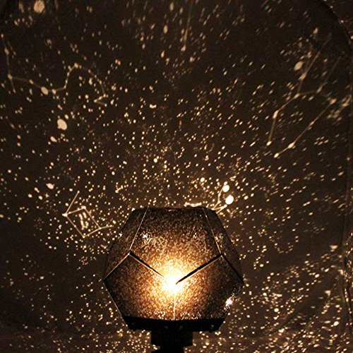 Night Light ,NNDA CO Star Astro Sky Projection Cosmos Night Light Projector 12 romantic constellation ,Plastic + Electronics,1Pc(Black)