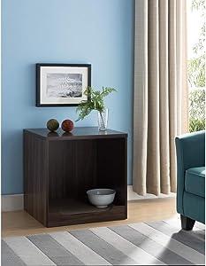 Benzara Wooden Pet End Table, Dark Walnut Brown