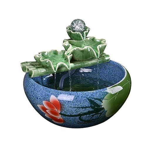Decoración creativa de cerámica de agua Fuentes de mesa de oficina ...
