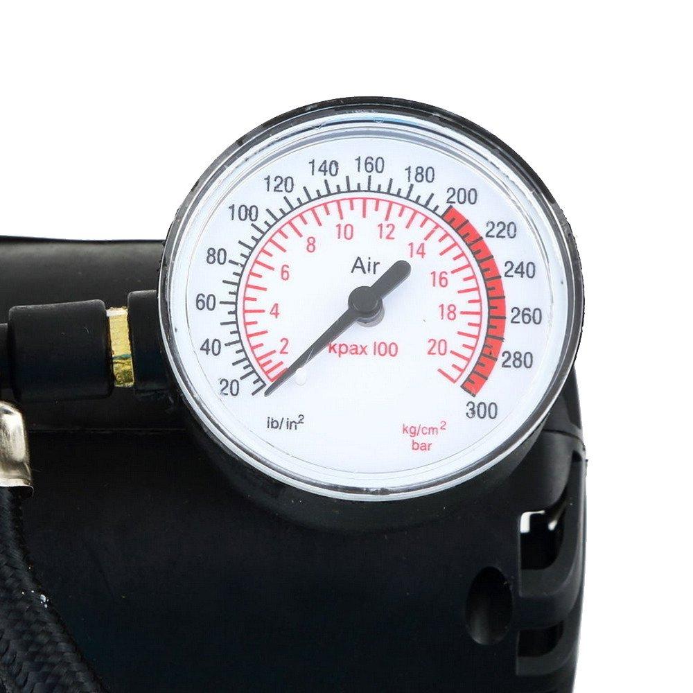 HOUTBY Portable 12V Car Motor Bike Tyre Inflator Electric Pressure Air Compressor Pump PSI Tools Gauge