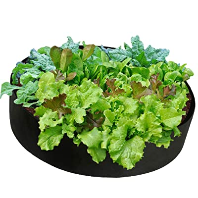 Cherry Juilt Fabric Raised Garden Bed, Gardering Grow Bed, Planter Bags, Planting Container Planter Pot, Garden Outdoor Felt Grow Bags for Vegetables (15 Gallons-23.6''x 7.8'') : Garden & Outdoor