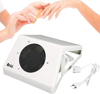 60W Aspirador de Polvo de Uñas, Colector de Polvo de Uñas Profesional, Máquina de Succión de Polvo de Uñas para Apoyar la Mano(Blanco): Amazon.es: Belleza