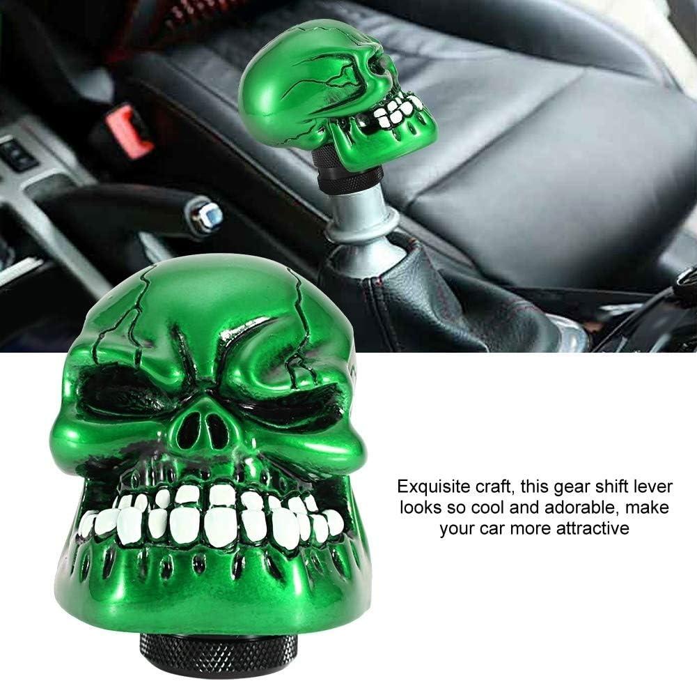 KSTE Skeleton Skull Head Car Modified Gear Shift Knob Stick Lever Shifter Universal Green