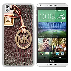 Genuine MK HTC Desire 816 Case,Michael Kors 133 White HTC Desire 816 Screen Phone Case Charming and Art Design