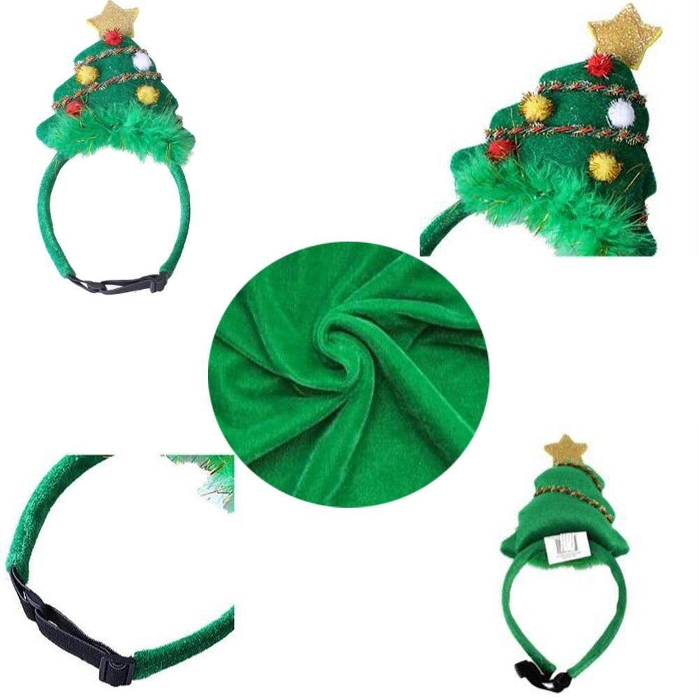 Amazon.com : Christmas Costume Pet Cat Dog Antlers Hat Cap Pet Dog Clothes Reindeer Horns Headwear Puppy Doggy Kitten Headband Christmas Collar, A, ...