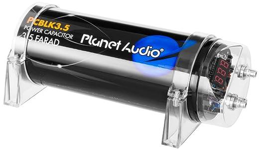 amazon com planet audio pcblk3 5 3 5 farad capacitor digital amazon com planet audio pcblk3 5 3 5 farad capacitor digital voltage display car electronics