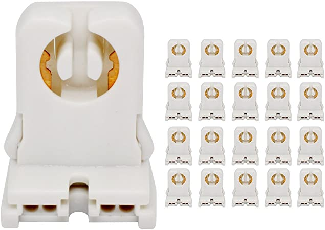 50-800PCS G13 Base Fluorescent /& LED Tube Lamp Holder Socket Snap-In Or Slide-On
