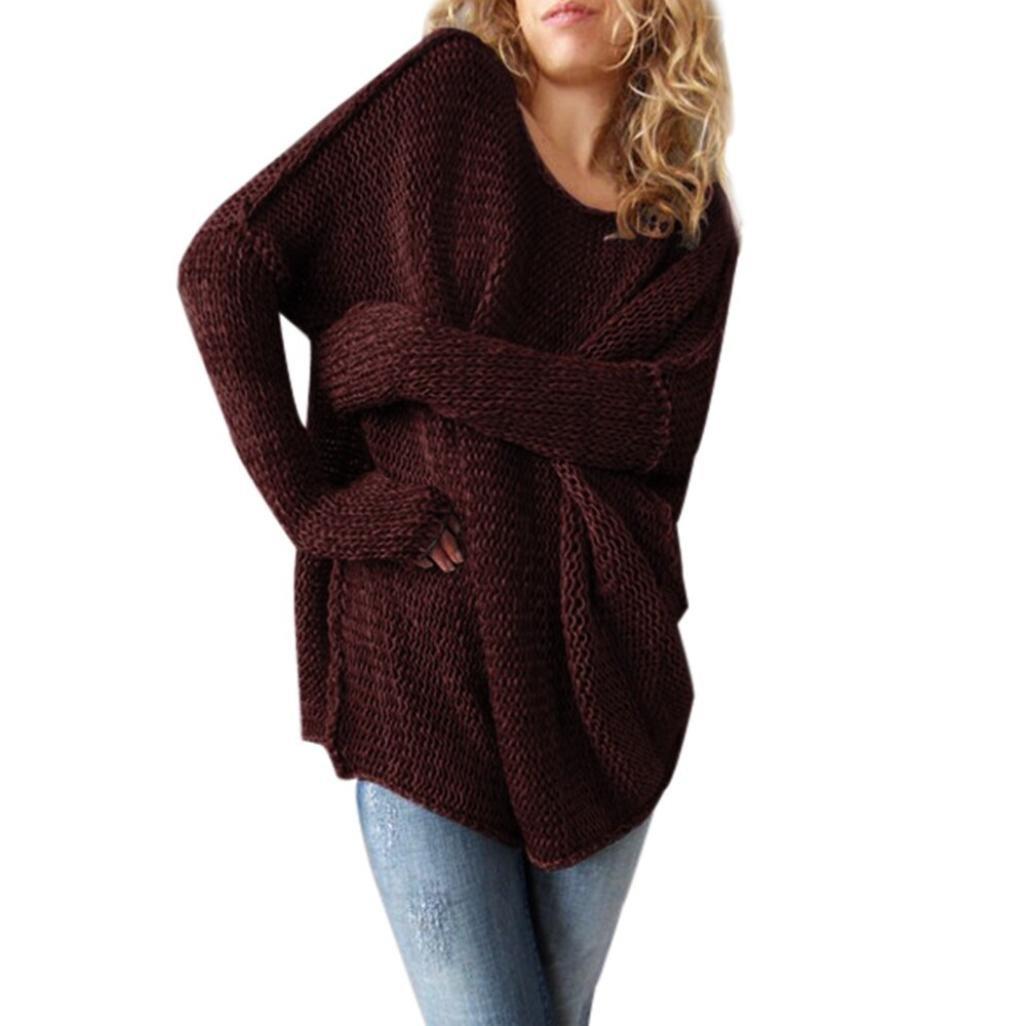 DaySeventh Women Loose Long Sleeve Fall Winter Oversize Sweater Jumper Shirt Tops DaySeventh-112