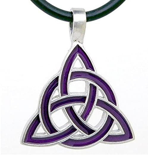 Amazon Purple Celtic Triquetra Knot Wicca Charmed Pewter