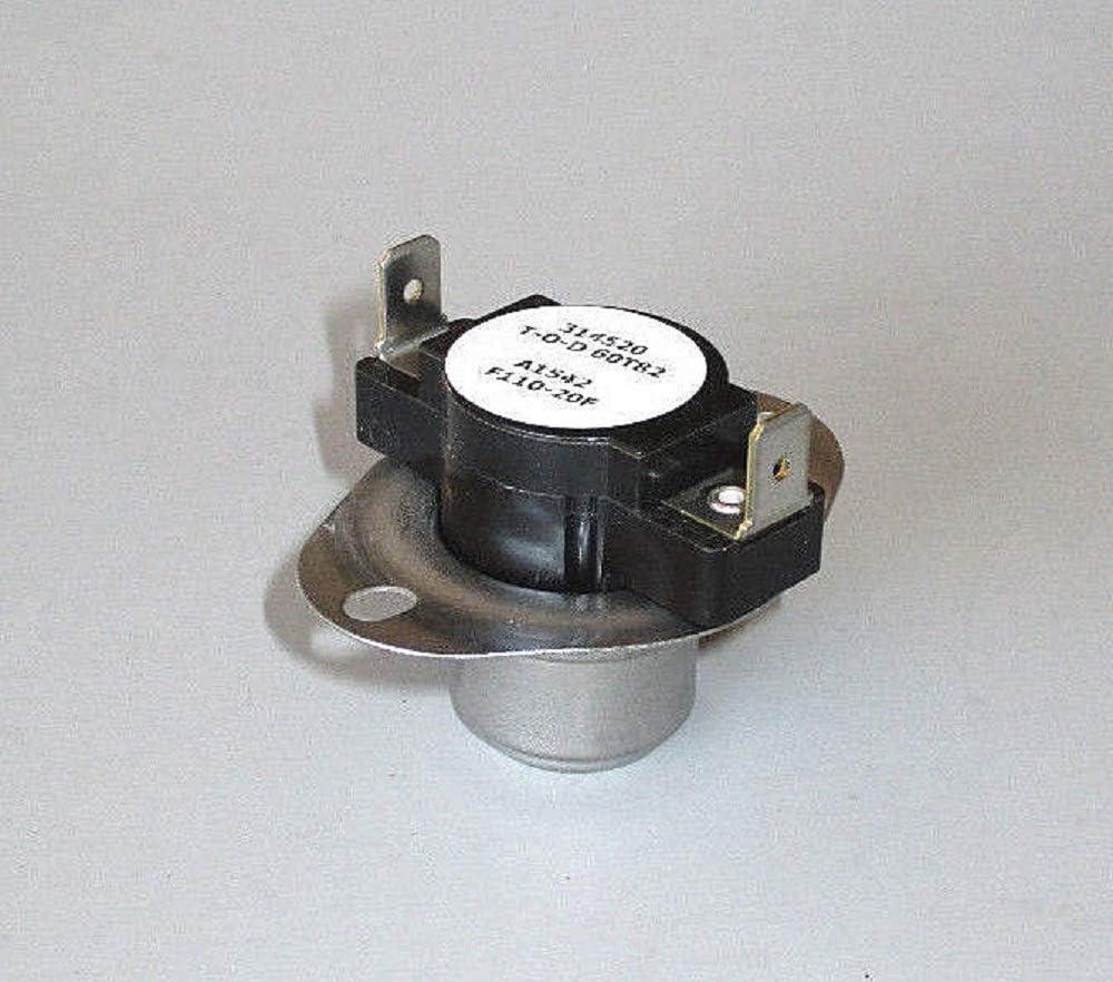 Coleman Evcon Furnace 110 F110-20F Disc Fan Switch 7660-328 7660-3281 4066-3281