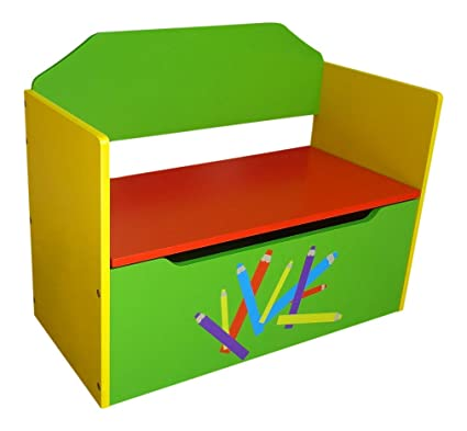 Fabulous Rostrad Childrens Kids Wooden Toy Storage Box And Bench Crayon Pencil Themed Ocoug Best Dining Table And Chair Ideas Images Ocougorg