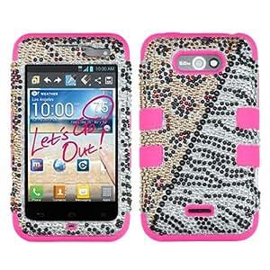 For LG LW770(Optimus Regard) MS770(Motion 4G) TUFF Cover Crystal Animal/E-Pink MYBAT