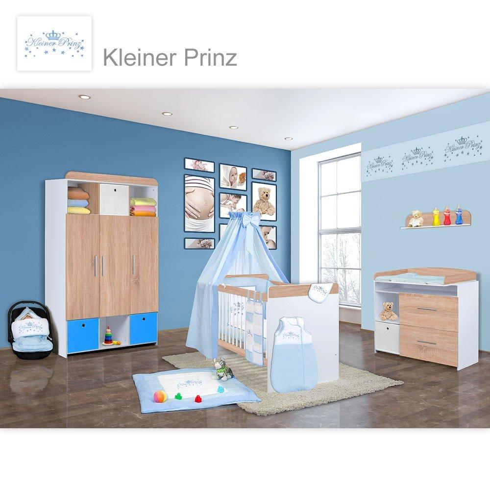 Babyzimmer Mexx in Sonoma 11 tlg. mit 3 türigem Kl. + Kleiner Prinz Blau