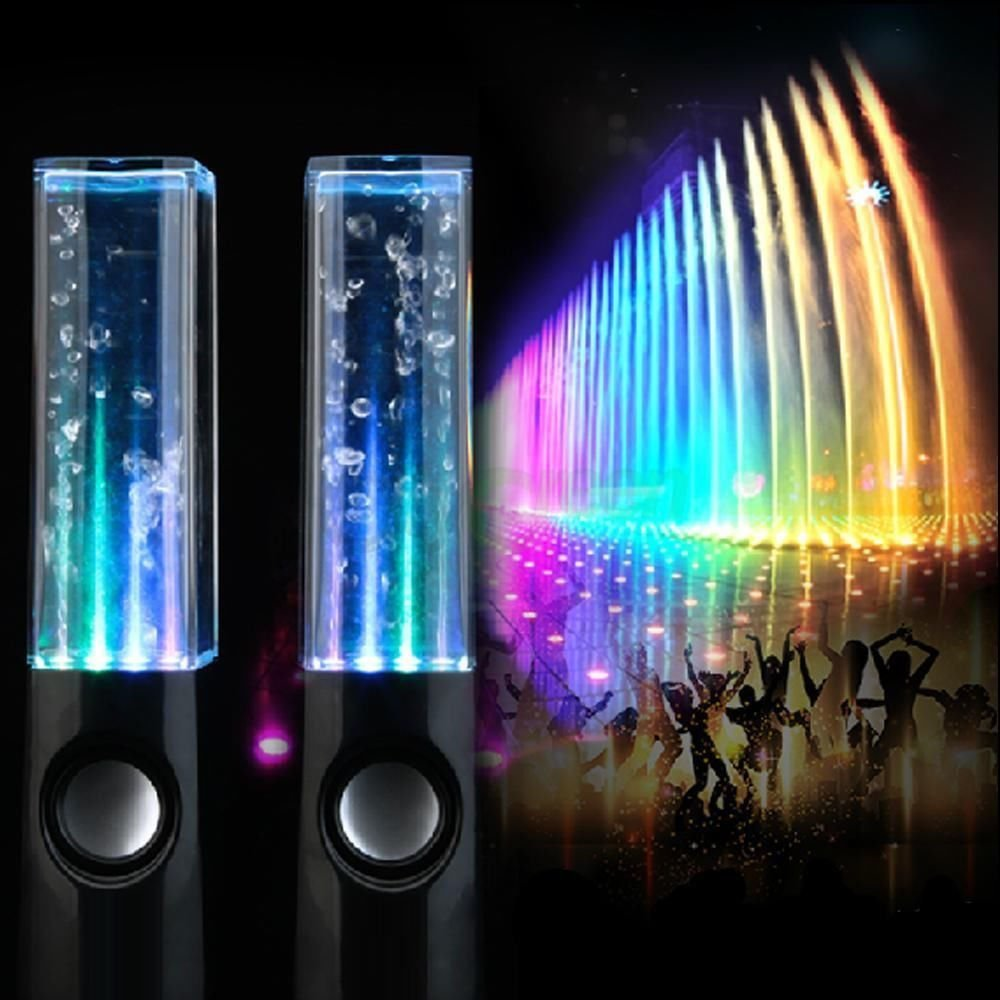 Samsonico Dancing Water Speakers (2-Piece) Black SM-32946