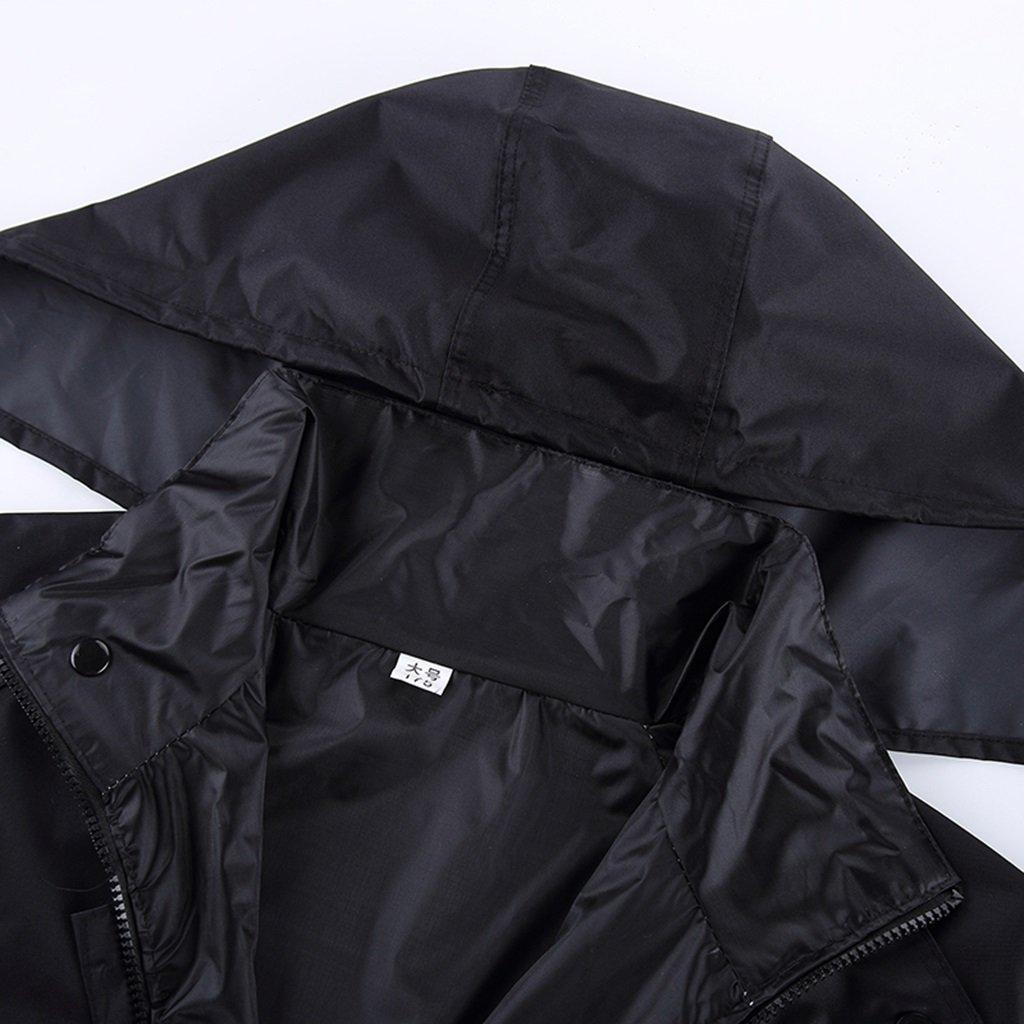 Außenverdickung und Langer Langer Langer Regenmantel-Mode-Erwachsene Männer EIN Frauen Windbreaker-Regenmantel (größe   XXXL) B07FBQBGKW Jacken Kunde zuerst 90b445