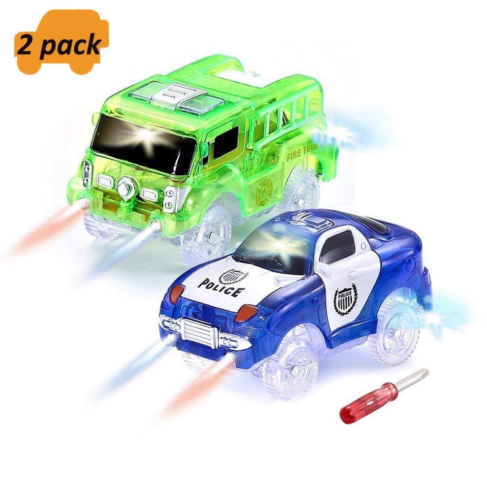 ONTOPON Magic Tracks, Light Cars Flexible Bright Circuit (Green + Blue)