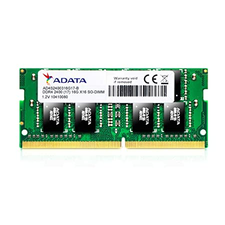ADATA Premier AD4S240038G17-B 8GB DDR4 2400 MHz PC4-19200 SODIMM RAM Memory module for Laptop Memory at amazon