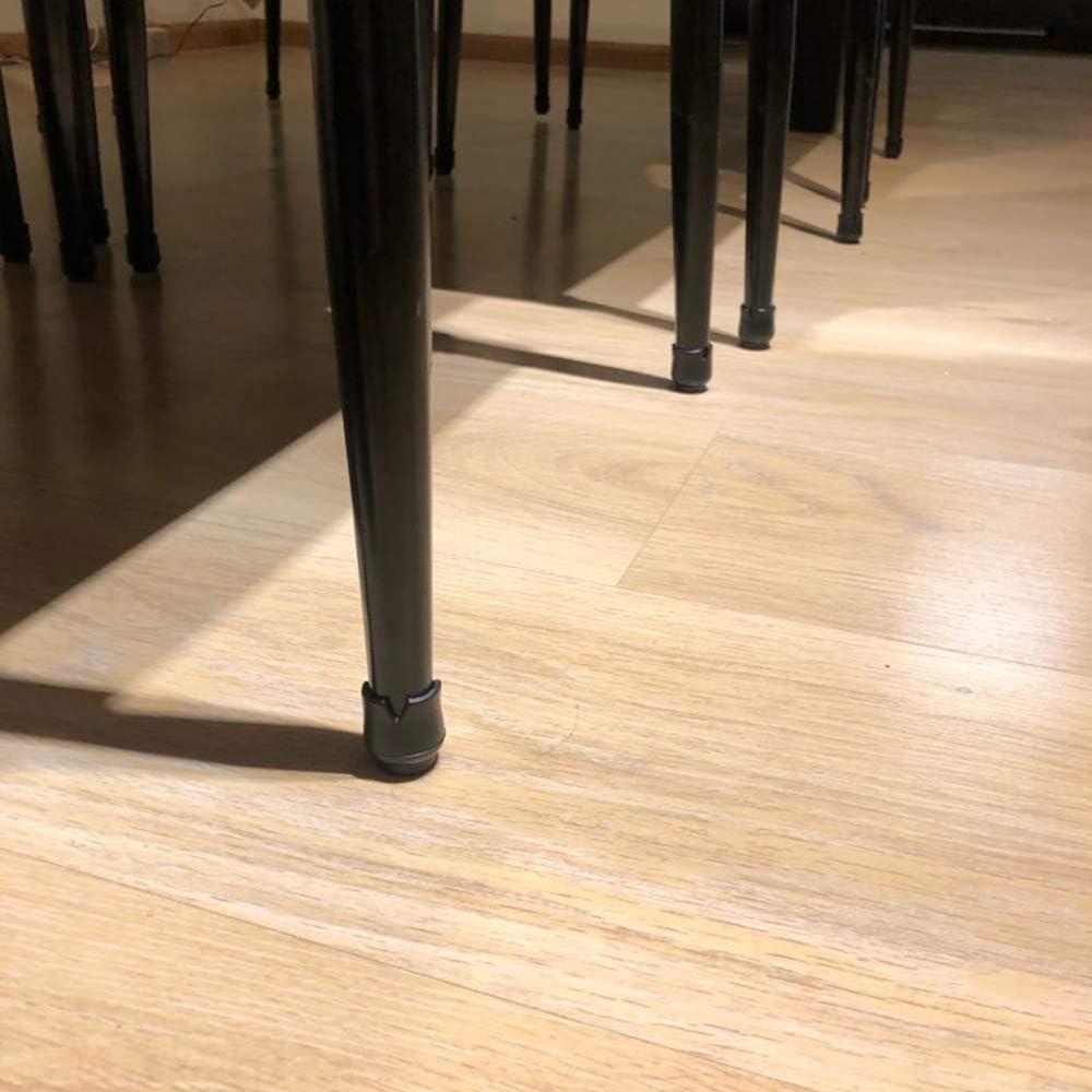 Lezed almohadilla de Caucho para muebles sillas Tapas para Las Piernas de la Silla Protectores de Piso para Pata de Silla para el Suelo Silla para el Suelo para 17-21 mm Patas Redondas 32 Piezas Negro