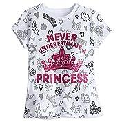 Disney Princess Icon Tee For Girls Size XS (4) White