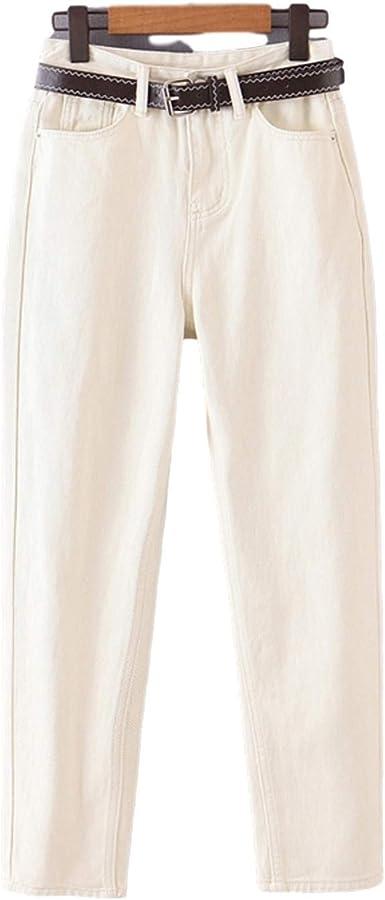 None Brand 2020 Pantalones Vaqueros De Mama A La Moda Para Mujer Con Cinturon Pantalones Largos Bolsillos En La Cintura Con Cremallera Pantalones Femeninos Amazon Es Ropa Y Accesorios