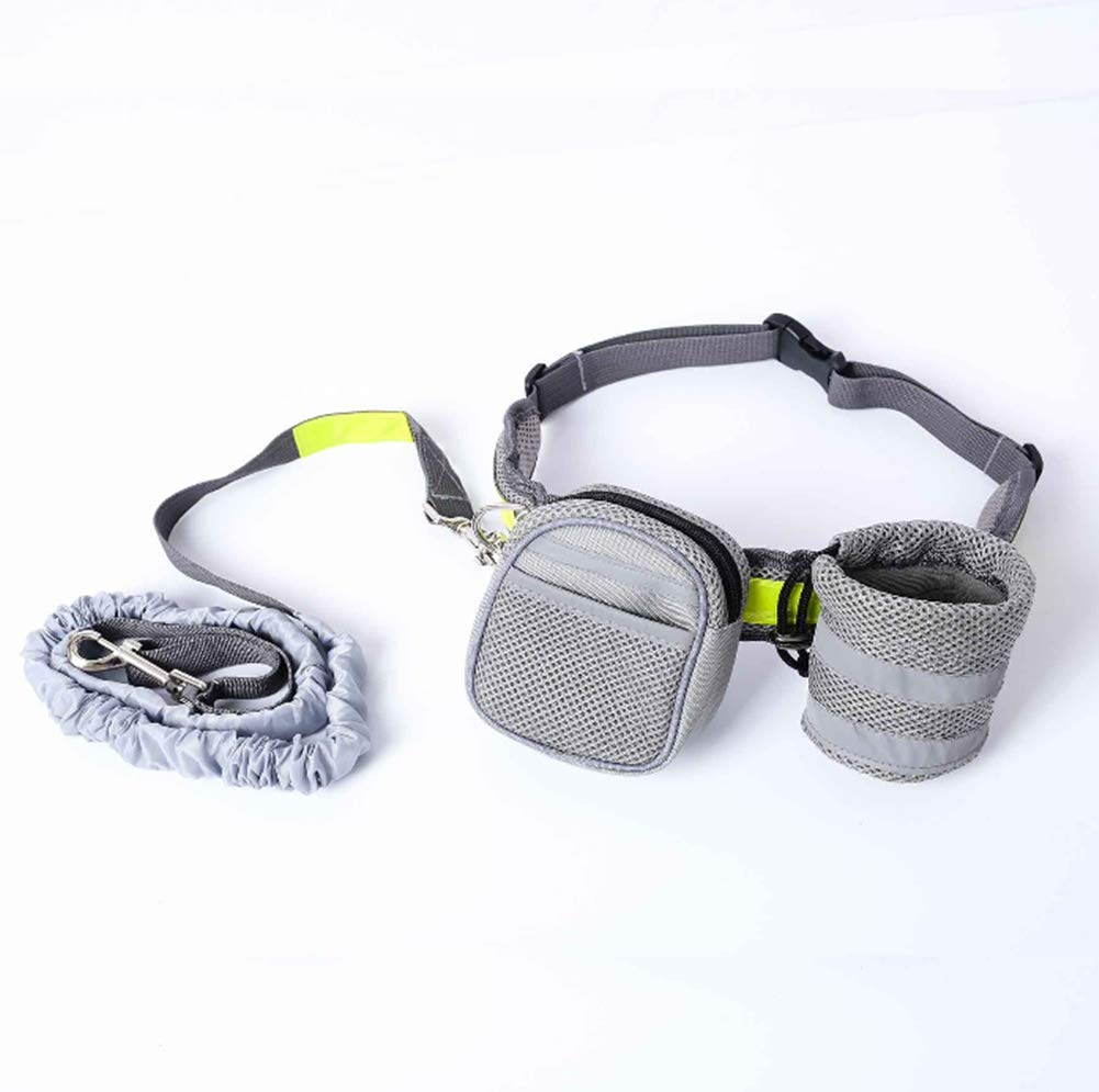 ZPEM Breathable Double Elastic Traction Belt Oxford Cloth Waist Pack Dog Hands Free Leads