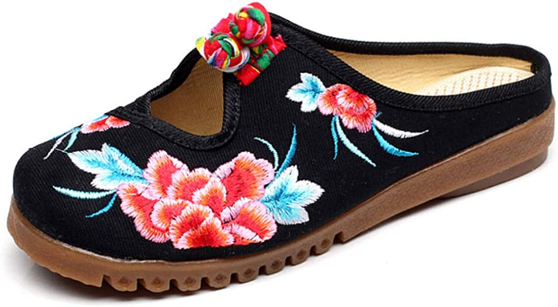 Huicai Chinois Style Chaussures brod/ées aux Femmes Tissu des Chaussures Chaussures Simples Brod/é Chaussons