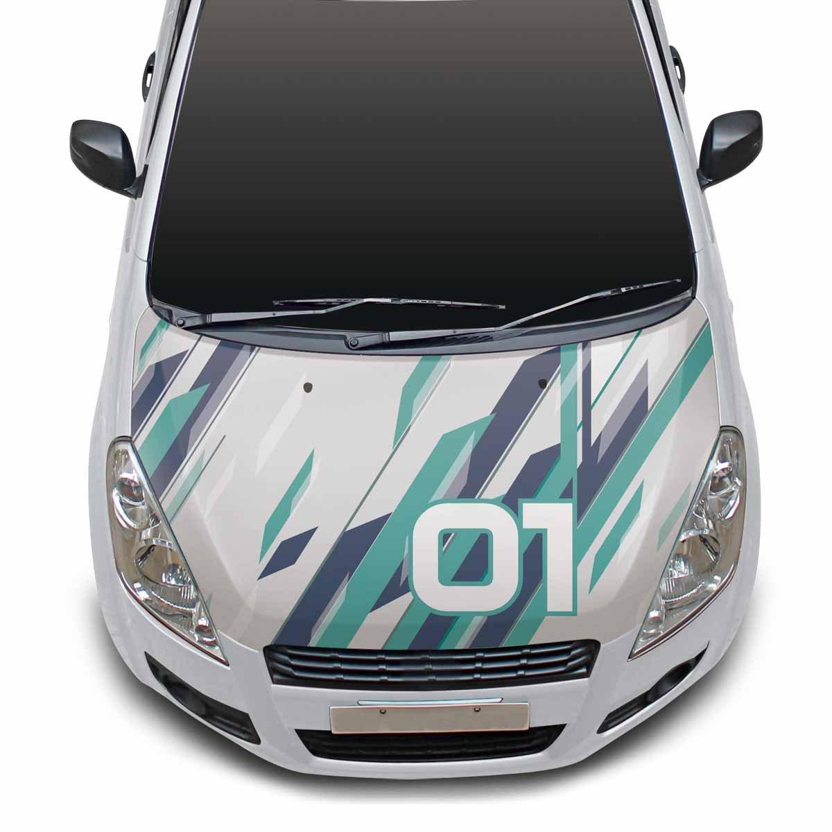 Autographix 1004536 blue wave s 1424bws bonnet 1 car bonnet wrap blue green and grey amazon in car motorbike
