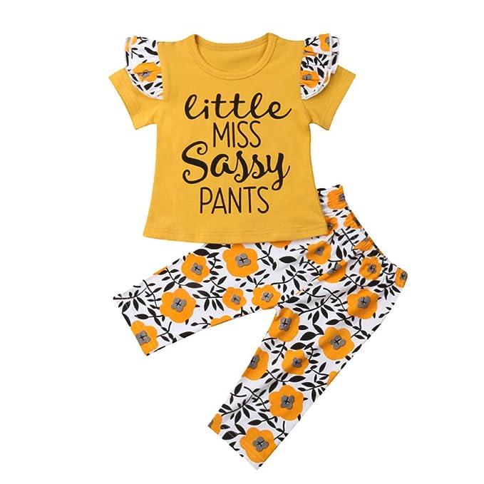 Hosen Shorts Kleidung Set Baby Kinder Mädchen Sommer Outfits Floral Tops Shirt