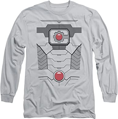 Cyborg Adult Long Sleeve T-Shirt Justice League