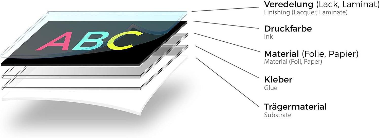 100 c/írculos adhesivos de PVC numerados 1-100 color R013 Beige Finest-Folia 15 mm