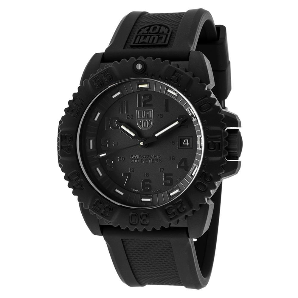 Luminox Blackout All Black Watch 3051 Bo 1 Black Clasp Crown