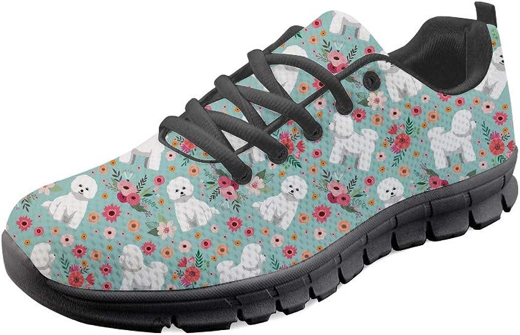 Hugs Idea - Zapatillas de Running para Mujer, diseño de Dentista, Verde (Bichon Frise Flower), 37 EU: Amazon.es: Zapatos y complementos