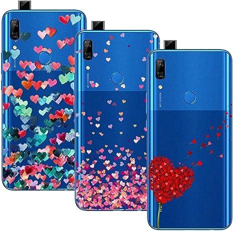 3 Pack Funda Huawei P Smart Z/Huawei Y9 Prime 2019, Transparente Ultrafina Carcasa Delgado antigolpes Resistente, Amor: Amazon.es: Electrónica