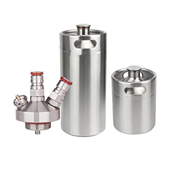 B Blesiya Mini Dispensador Grifos Lanzas Dispensador de Cerveza 2L + 5L Keg Spear Growler Mini