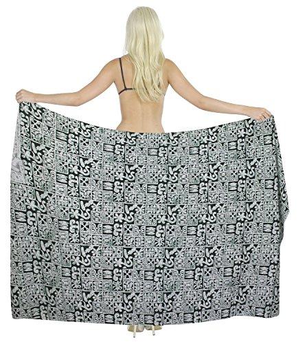 La mujer leela pareo abstracta envolver 100% algodón playa sarong88x39 hawaiano pulgadas Verde